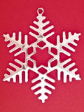 Six pointed snowflake Stock Images