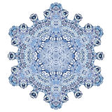 Six-pointed snowflake pattern. In watercolor style Stock Image