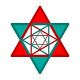 Six-pointed star. Abstract design Royalty Free Stock Image