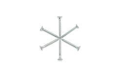 Six-pointed Star Made Of Screws Stock Image