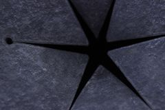Six-pointed star. Symbol. Six pointed star with Maltese cross. Six-pointed star. Symbol Stock Image