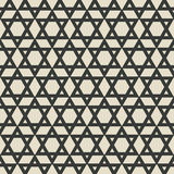 Six-pointed star monochrome seamless pattern Stock Photography