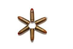 Six-pointed Star Of Cartridges Isolated Stock Photography