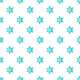 Six pointed star pattern, cartoon style Stock Photo