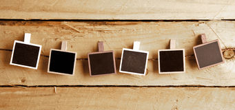 Six Polaroid-style photo frames Royalty Free Stock Image
