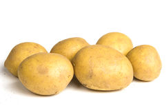 Six potatoes. On white background isolated stock images
