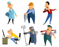 Six profession people Stock Images