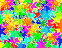 Six punks stars texture. Six corners stars pattern random order Stock Illustration