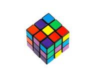 Six puzzles de cube en couleur Photographie stock