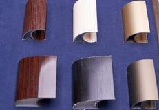 Six qualités des accessoires en métal Photos stock