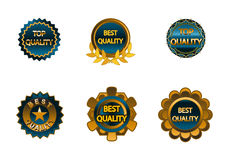Six quality red signs. Vector illustration of a six quality red signs Royalty Free Stock Photos