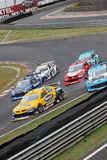 Six Racing Cars and Accident Interlagos Brazil Stock Photo