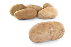 Six Raw Russet Potatoes Stock Photography