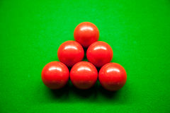 Six red balls and Snook. Royalty Free Stock Photography