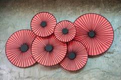 Six red circles Stock Image