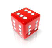 Six red dice Royalty Free Stock Photography
