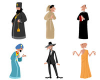 Six religious figures Royalty Free Stock Images