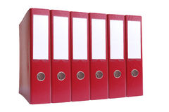 Six ring binders Stock Images
