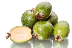Six ripe pineapple guava Stock Image