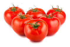 Six ripe red tomato Royalty Free Stock Photos