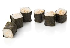 Six roll with tuna Stock Photography