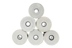 Six rolls of thermo paper Royalty Free Stock Photo