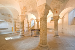 Six Romanesque pillars Stock Photo