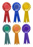 Six rosettes Stock Photos