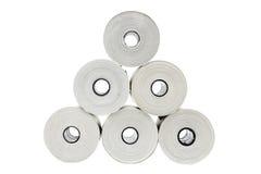 Six rouleaux de papier thermo Photo libre de droits