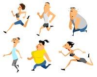 Six running man. Vector illustration of a six running man royalty free illustration