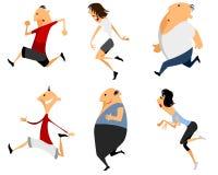 Six running man. Vector illustration of a six running man stock illustration