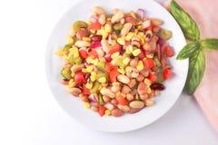 Six salades de haricot photographie stock libre de droits