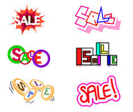 Six sale icons Royalty Free Stock Photo