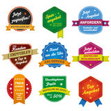 Six Sale Labels Royalty Free Stock Images