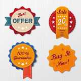 Six Sale Labels Royalty Free Stock Photos