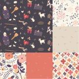 Six  seamless patterns Royalty Free Stock Image