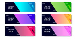 Horizontal Gradient geometric and modern futuristic background template for business, fashion, banner vector illustration