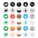 Six sets of element icons Stock Photography