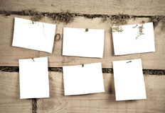 Six sheets of paper Stock Images