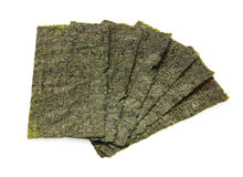 Six Sheets of Seaweed Stock Photos