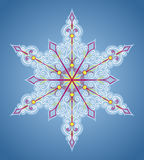 Six-sided pattern like snowflake Royalty Free Stock Photo