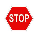 Six sided stop sign Stock Photo