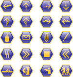 Six sides icons Stock Photo