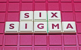 Six Sigma. A concept for Six Sigma, the popular business improvement concept royalty free stock photos