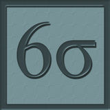 Six Sigma Icon Stock Images