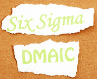 Six Sigma. The popular business improvement concept Six Sigma royalty free stock photography