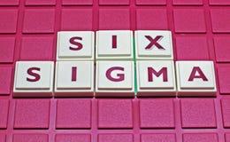 Six sigmas Photos libres de droits