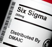 Six sigmas Images stock