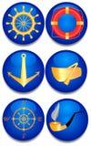 Six signes de mer. Photo libre de droits