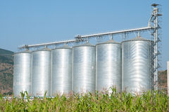 Six Silos Royalty Free Stock Photo